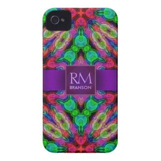 Psychedelic Batik Monogram iPhone4 Case-Mate™ iPhone 4 Case