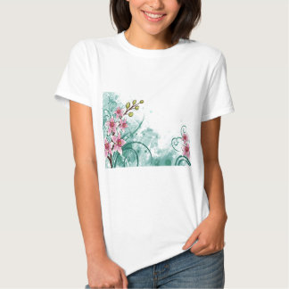 psychedelic beautiful flower abstract t-shirts