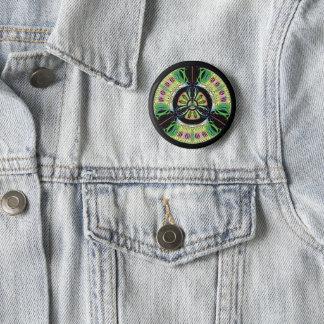 Psychedelic bio-hazard symbol (or whatever u see) 2 inch round button