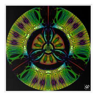 Psychedelic bio-hazard symbol (or whatever u see) acrylic print