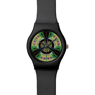 Psychedelic bio-hazard symbol (or whatever u see) watch