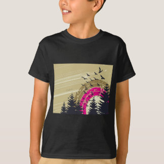 psychedelic birds south abstract T-Shirt