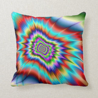 Psychedelic Blast Throw Pillow
