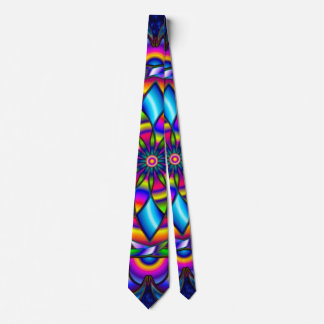 Psychedelic Blue Angel Wings Mandala Necktie
