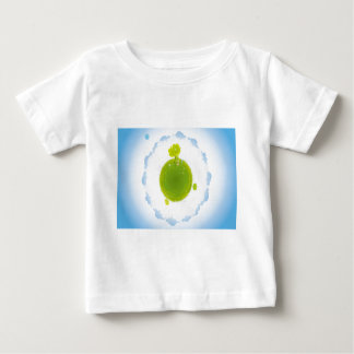 psychedelic blue clouds green earth tee shirts