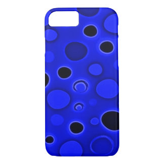 Psychedelic Blue Lava Lamp Bubbles Airbrush Art iPhone 7 Case