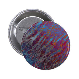 Psychedelic Blue Red Zebra 2 Inch Round Button