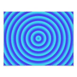 Psychedelic Blue Spirals Poster