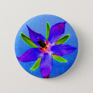 Psychedelic Borage 2 Inch Round Button