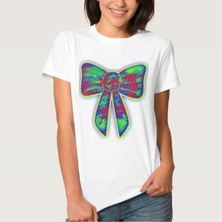 Psychedelic bow tee shirt