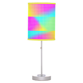 Psychedelic Bright Colorful Rainbow Design Desk Lamps