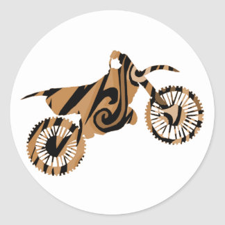 Psychedelic Brown Dirt Bike Stickers
