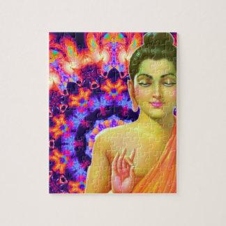 Psychedelic Buddha Jigsaw Puzzle