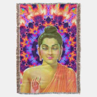 Psychedelic Buddha Throw Blanket