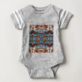 Psychedelic Building Pattern Baby Bodysuit