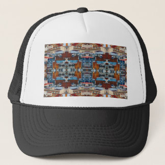 Psychedelic Building Pattern Trucker Hat