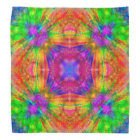 Psychedelic Burst, colourful tie dye bandana