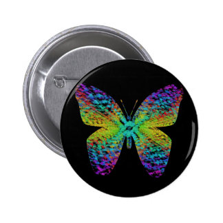 Psychedelic butterfly. 2 inch round button