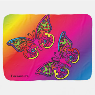 Psychedelic Butterfly Baby Blanket