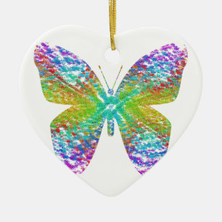 Psychedelic butterfly. ceramic ornament