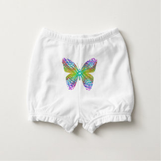 Psychedelic butterfly. diaper cover