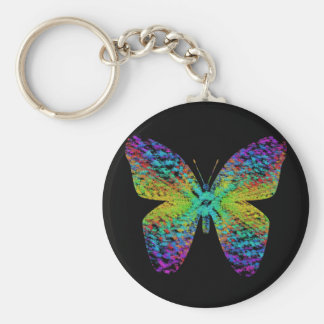 Psychedelic butterfly. keychain