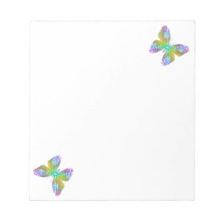 Psychedelic butterfly. notepad