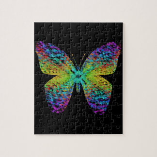 Psychedelic butterfly. puzzle