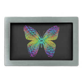 Psychedelic butterfly. rectangular belt buckle
