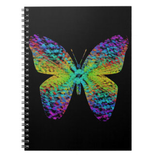 Psychedelic butterfly. spiral notebook