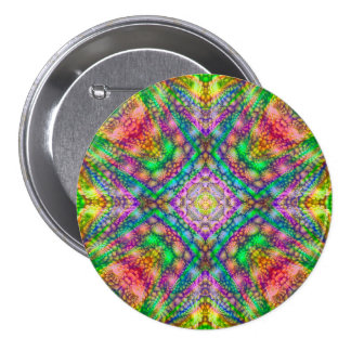 Psychedelic  Buttons, square or round 3 Inch Round Button