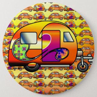 Psychedelic Caravan 6 Inch Round Button