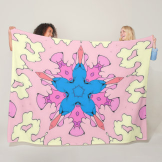 Psychedelic Cartoon Cloud Star Cush Satin Pattern Fleece Blanket