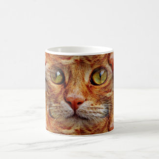 Psychedelic Cat Face Coffee Mug