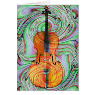 Psychedelic Cello Card