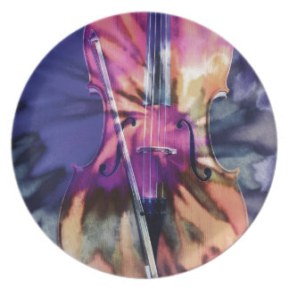 Psychedelic cello plate