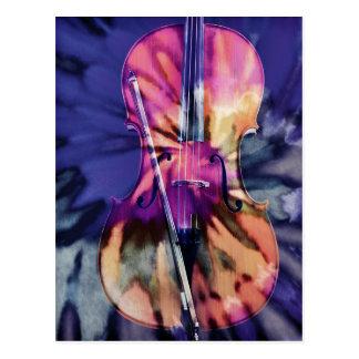 Psychedelic cello postcard