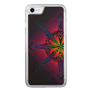 Psychedelic Chaos on Genuine Hardwood Maple Carved iPhone 8/7 Case