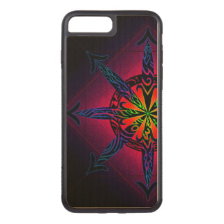 Psychedelic Chaos on Genuine Hardwood Maple Carved iPhone 8 Plus/7 Plus Case
