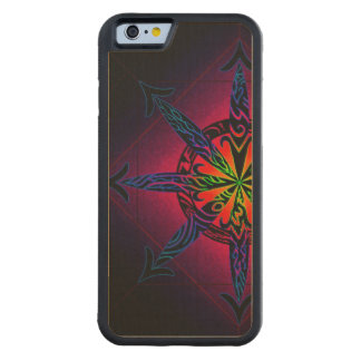 Psychedelic Chaos on Genuine Hardwood Maple Carved Maple iPhone 6 Bumper Case
