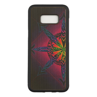 Psychedelic Chaos on Genuine Hardwood Maple Carved Samsung Galaxy S8+ Case