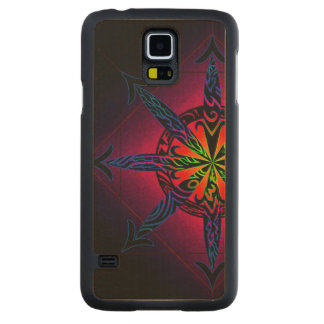 Psychedelic Chaos on Genuine Hardwood Maple Maple Galaxy S5 Slim Case