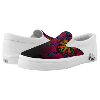 Psychedelic Chaos Slip-On Sneakers