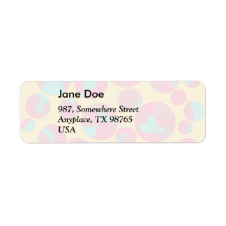 Psychedelic cheese return address label