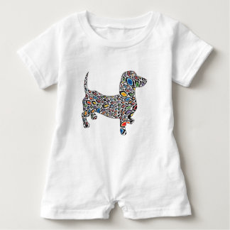 Psychedelic-Cheetah-Doxie Baby Romper