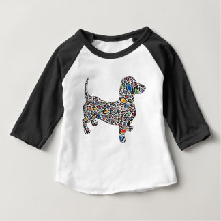 Psychedelic-Cheetah-Doxie Baby T-Shirt
