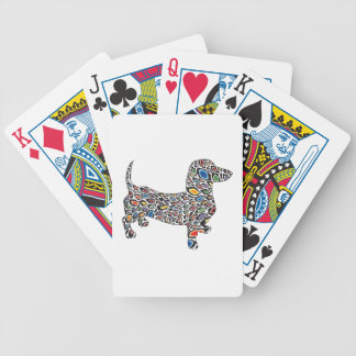 Psychedelic-Cheetah-Doxie Bicycle Playing Cards