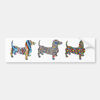 Psychedelic-Cheetah-Doxie Bumper Sticker