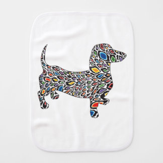 Psychedelic-Cheetah-Doxie Burp Cloth
