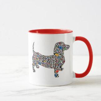 Psychedelic-Cheetah-Doxie Mug